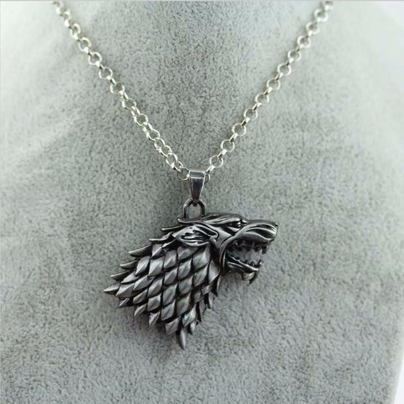 Colar Casa Stark Game Of Thrones Lobo Jon Arya Sansa Bran