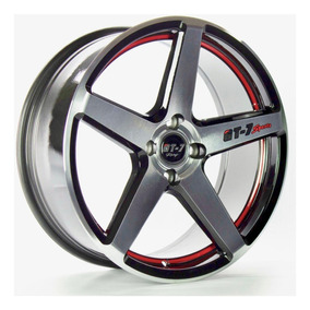 Roda Gt7 C-spec 2 / Aro 17x7 / Preta Red Diamantada (4x100)