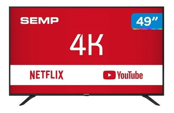 Smart Tv 4k Led 49 Semp Sk6000 Wi-fi - Conversor Digital 3