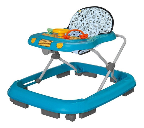 Andador Infantil Musical Para Bebê Azul - Tutti Baby