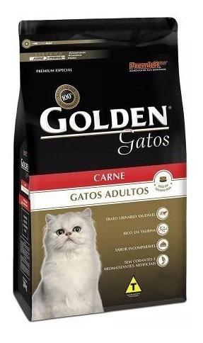 Ração Golden Para Gatos Adultos Sabor Carne 10,1 Kg