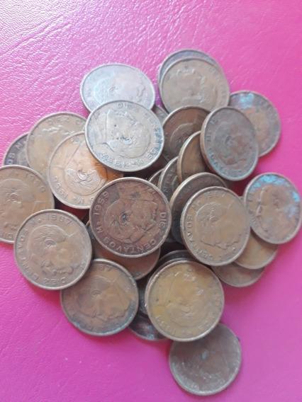 Lote De 35 Monedas De 10 Ctvs Precio Por Todo El Lote