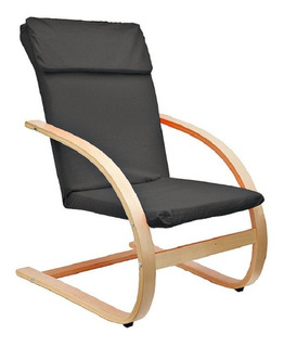 Silla Sillon Poltrona Interior Diseño Madera Negro Premium