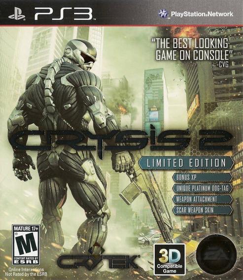 Crysis 2 Limited Edition Ps3 Jogo Original Mídia Física