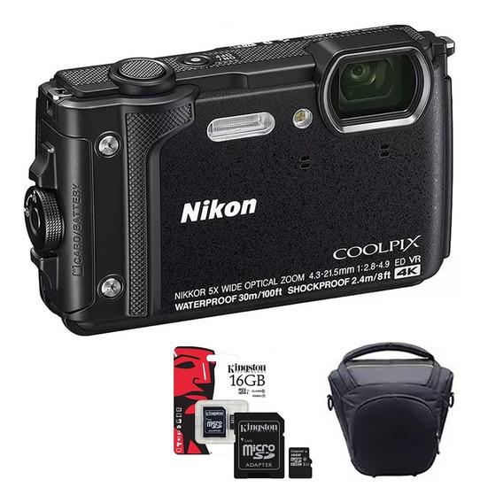 Camara Nikon W300 Sumergible 4k Anti Golpe Wifi+ Bolso+ 16gb