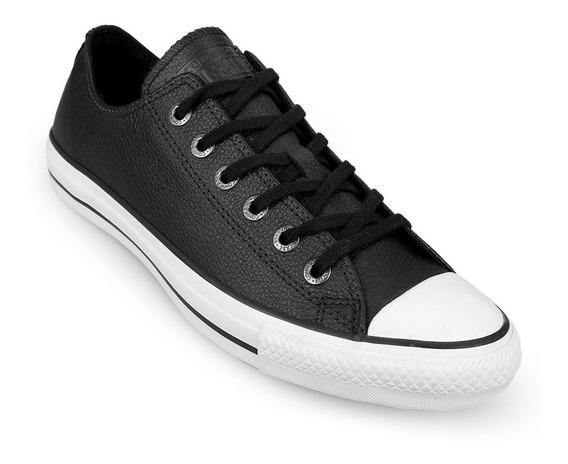 Converse Cuero Negras Bajas 157002c Ox Leather