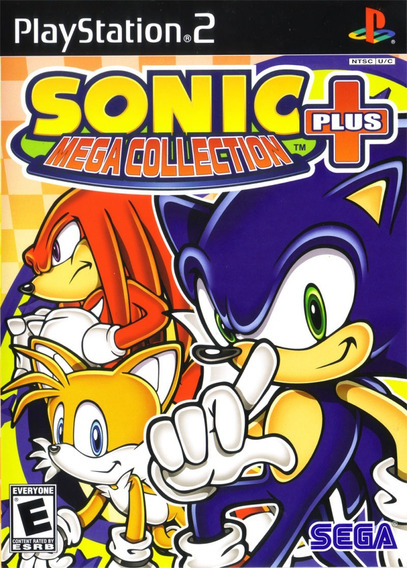 Sonic Mega Collection Plus Ps2 Capa Colorida 18 Jogos Barato