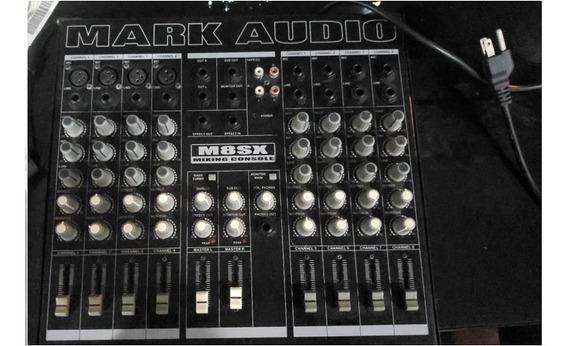Mesa De Som 8 Canais Mixer M8sx Mark Audio