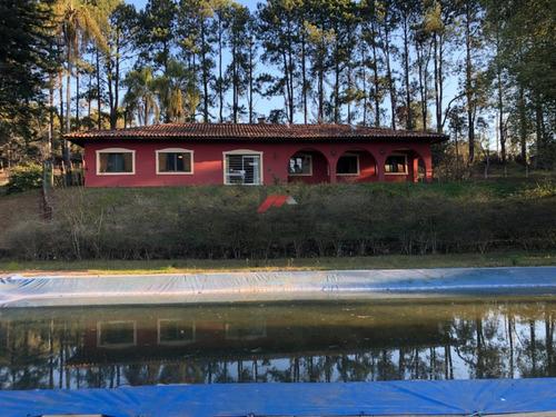 Imagem 1 de 14 de Chácara Pé-na-água Em Condomínio Fechado Cod:1156