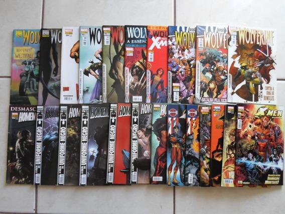 Wolverine Homem Aranha E X Men Extra Panini Lote Com 23 Hqs