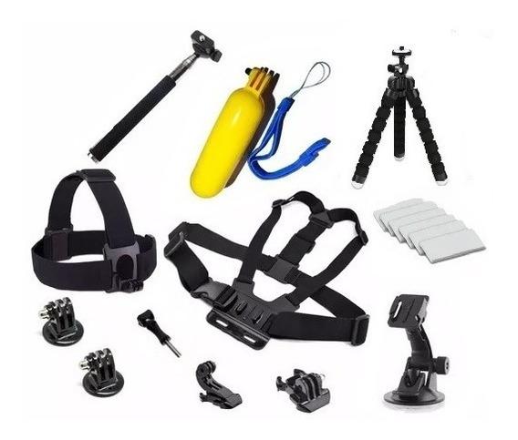 Kit Acessórios Câmera Gopro Hero 4 5 6 7 Session Sjcam