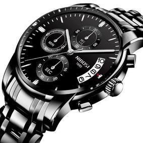 Relógio Nibosi Masculino Original Luxo Alta Qualidade Promoç