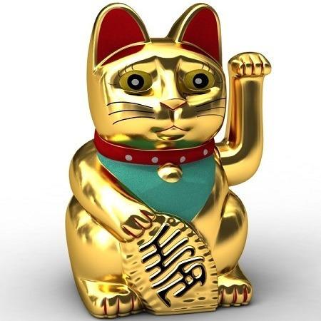 Gato Da Sorte Chinês Maneki Neko Atrai Riqueza Prosperidade