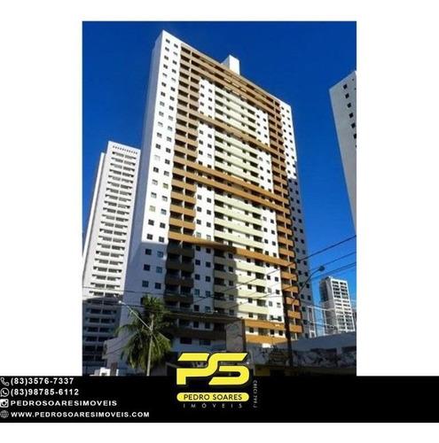 (mobiliado) Apartamento/flat Com 1 Dormitório À Venda, 34 M² Por R$ 245.000 - Manaíra - João Pessoa/pb - Ap5282