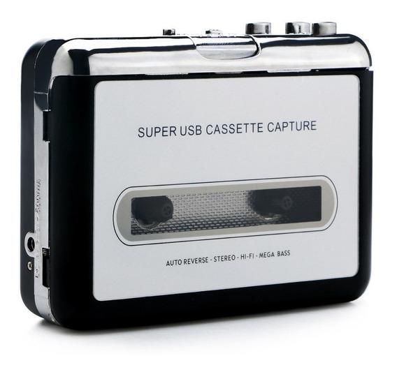 Fita Cassete P/ Mp3 Leitor E Conversor Usb Stereo Digital