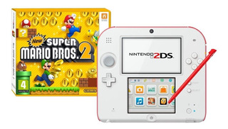 Nintendo 2DS New Super Mario Bros 2 blanco y rojo