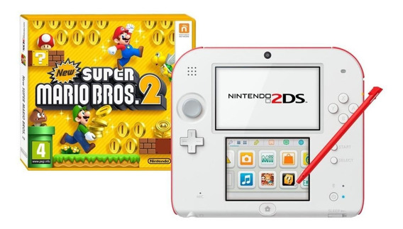 Nintendo 2DS New Super Mario Bros 2 branco/vermelho