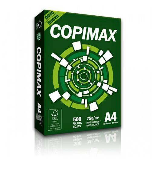 1 Resma C/ 500 Folhas Papel Sulfite A4 Branco Copimax 75g