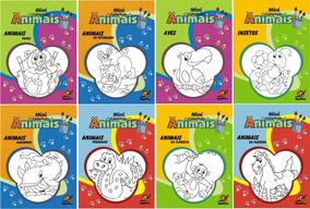Livro De Colorir Vários Temas 5 Pacotes Com 10 Unidades Cada