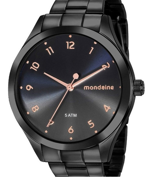 Relógio Mondaine Feminino Preto Barato Original