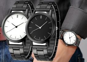 Reloj Metálico Diseño Elegante Marca Kevin Hombre Caballero