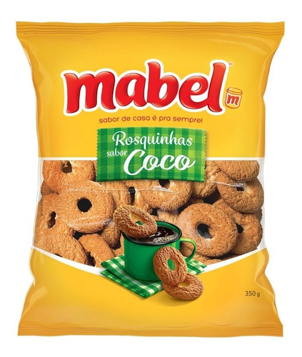 Biscoito Rosquinha Coco Mabel Pacote 350g
