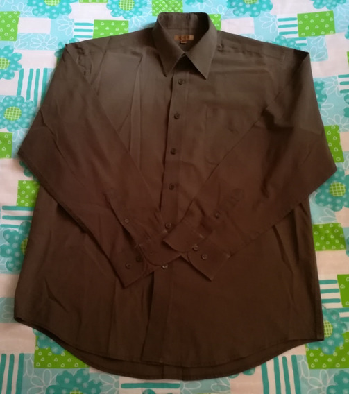Camisa Marrón Oscuro De Caballero, Marca Ike, Talla M