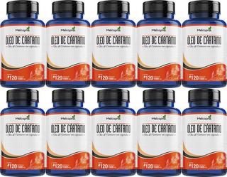 10 Óleo De Cártamo 1000mg Queima Gordura 120 Cáps Melcoprol