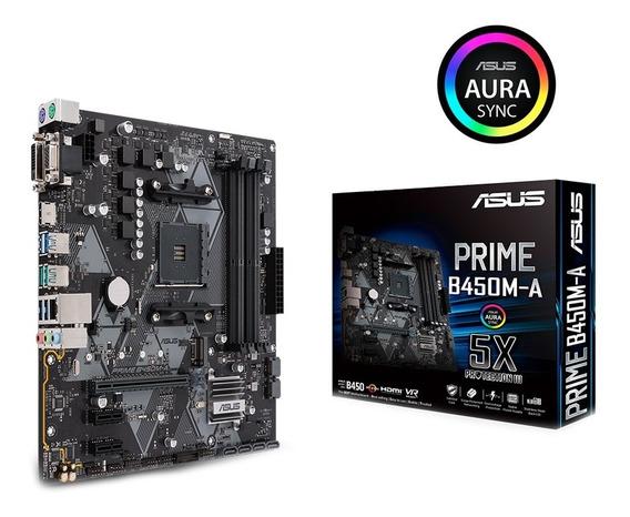 Placa Mae Asus Amd Am4 Ddr4 Matx Prime B450m-a Ddr4