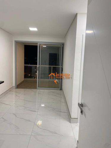 Studio Com 1 Dormitório, 39 M² - Venda Por R$ 450.000,00 Ou Aluguel Por R$ 2.250,00/mês - Macedo - Guarulhos/sp - St0024
