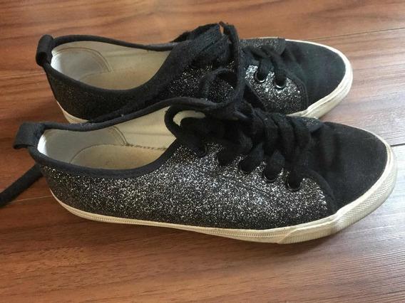Zapatillas Glitter H&m Talle 34