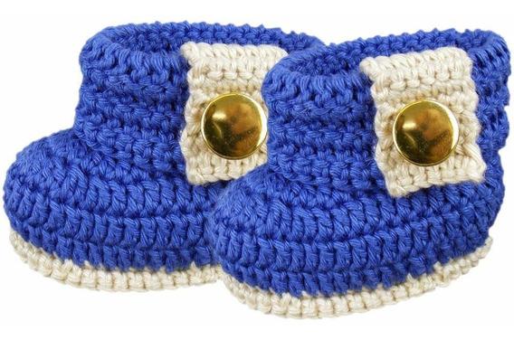 Botinha De Crochê Para Bebê Recém-nascido Modelo Charme (rn)