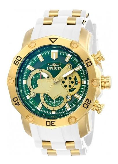 Relógio Invicta 23422 Dourado Borracha Branco - Pro Diver