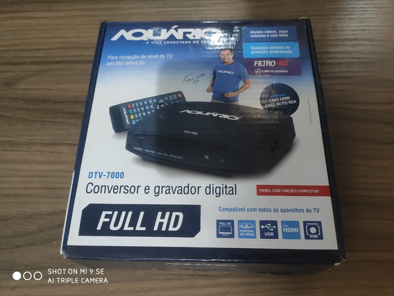 Conversor E Gravador Digital Aquario Tv-7000