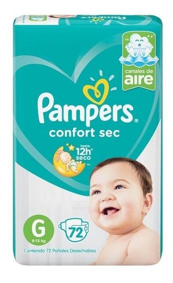 Pañales Pampers Confort Sec Familiar Mes De Uso Todos Talles