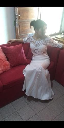 Vestido Novia Dos Piezas Talle M