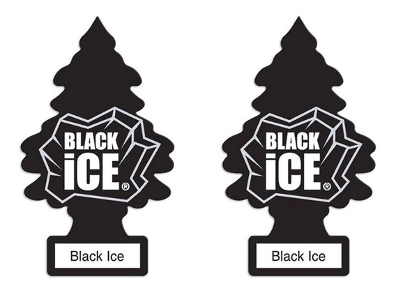 2 Aromatizante Automotivo Little Trees Black Ice Original Cheiro Cheirinho Carro Importado