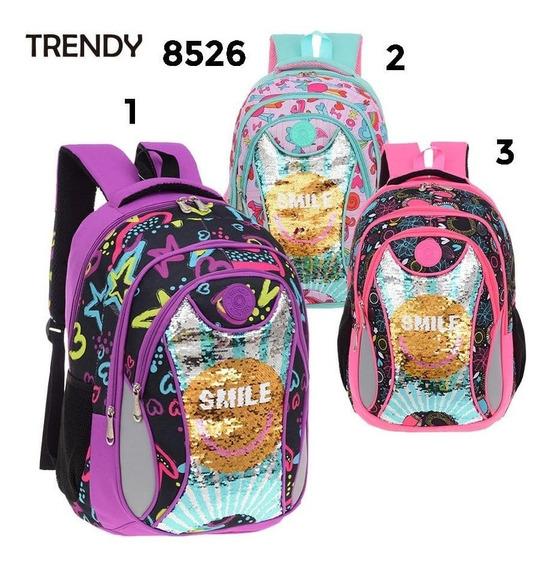 Mochila Escolar Trendy Mod.8526 (violeta )