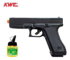 Pistola De Airsoft Kwc Glock G7 - 6mm + 1000 Esferas 0,12g