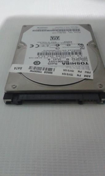 Disco Duro Toshiba 500gb 2.1 In Para Laptop Sata
