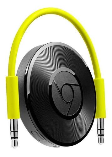 Google Chromecast Audio RUX-J42  256MB preto com memória RAM de 256MB