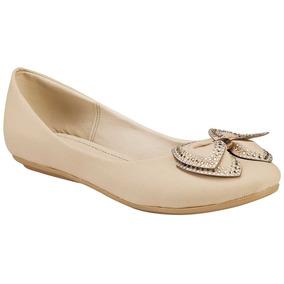 Zapato De Piso Dama Miss Pink 8-266 Beige 22-26 U43300 T2