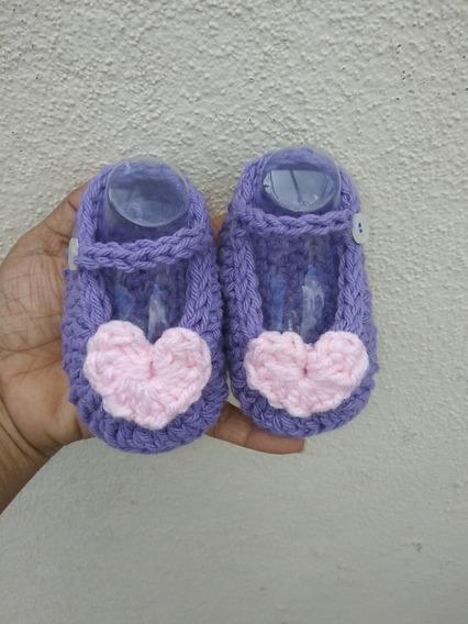 Zapatitos Crochet Tejido A Mano Baby Crochet