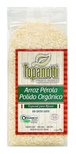 Imagem 1 de 1 de Arroz Pérola Polido Orgânico Topanotti 1kg Especial P Risoto