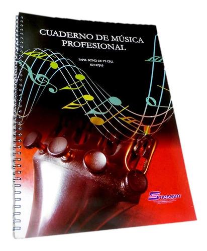 Cuaderno De Música Nessan X 50 Hojas