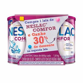 Kit 2 Latas Composto Lácteo Neslac Comfor 800g