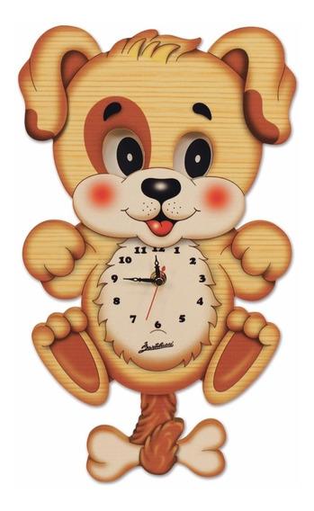 Relógio Italiano Quarto De Criança Cachorrinho Bartolucci