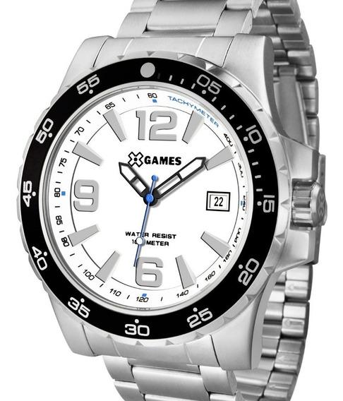 Relógio X-games Masculino Prata Grande - Xmss1043 B2sx