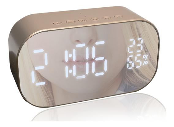 Caixa De Som Rádio Relógio Despertador Bluetooth Mp3 Usb Sd