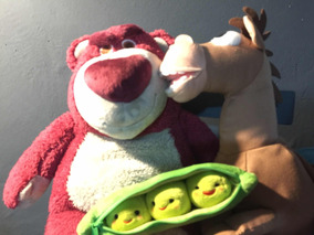 Trio De Pelúcias Toy Story - Lotso, Peas E Bullseye Novos
